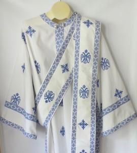 Deacon Vestments BlueWhite