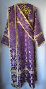 Deacon Vestments Purple Back
