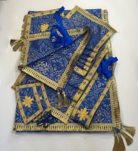 Blue Gold Altar Cloth